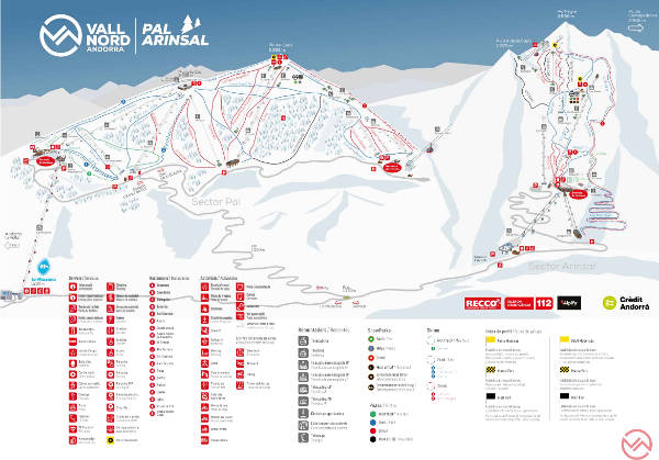 Arinsal Andorra  city images : Pal Arinsal Piste Map – Free downloadable piste maps
