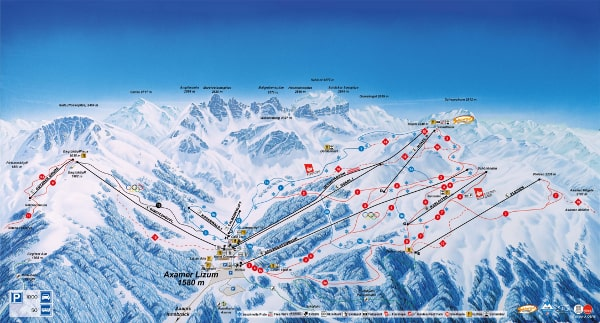 Axamer Lizum Ski Resort Piste Map