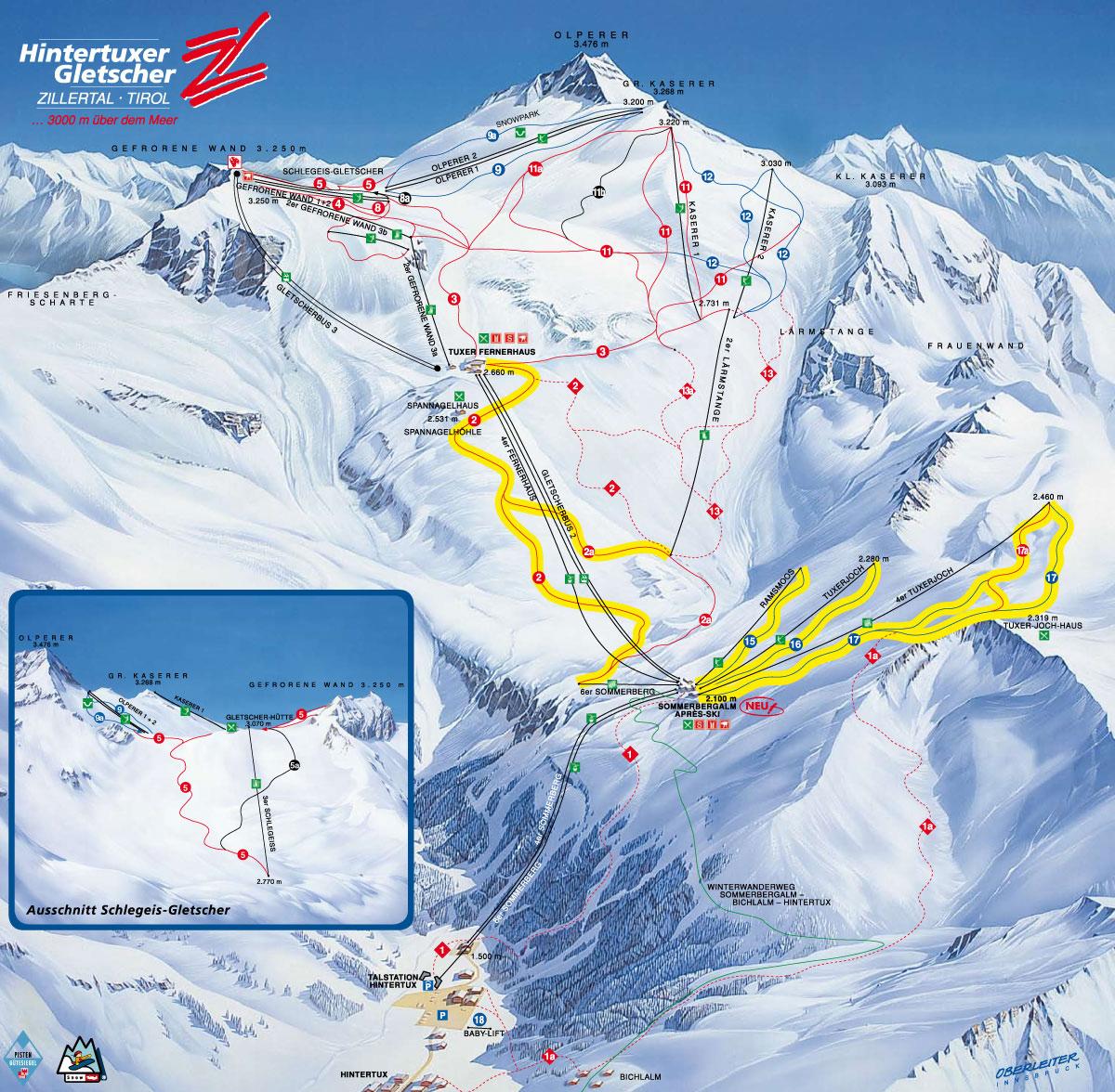 Hintertux Glacier Austria  City new picture : Hintertux Austria Map
