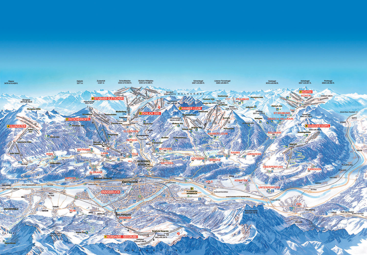 innsbruck karta Innsbruck Piste Map – Free downloadable piste maps. innsbruck karta