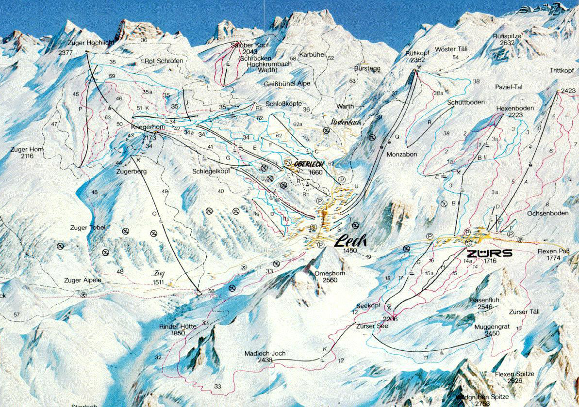 Lech Amp Z 252 Rs Piste Map Free Downloadable Piste Maps