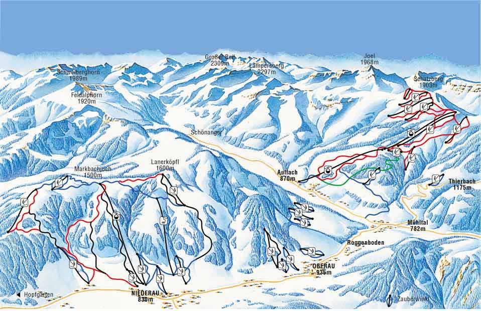 Auffach Ski Resort Piste Map