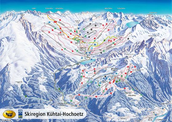 Oetz Ski Resort Piste Map