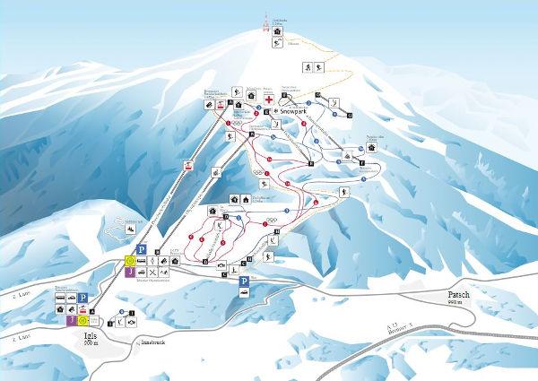 Patscherkofel Piste Map Free Downloadable Piste Maps