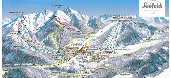 Bad gastein ski map