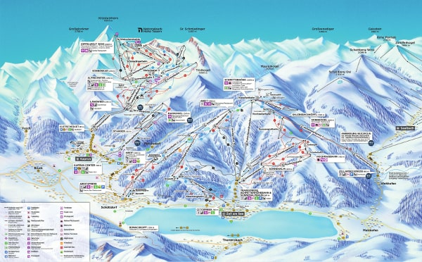 Zell am See Ski Resort Piste Map