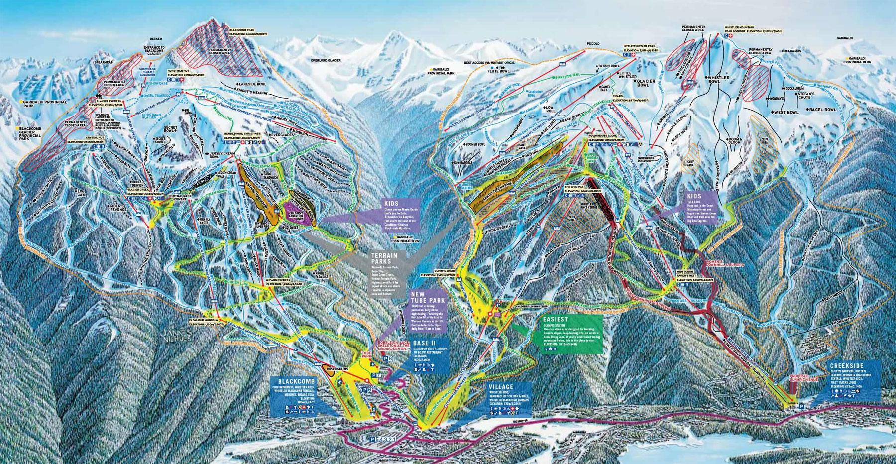 Whistler Blackcomb Piste Map Free downloadable piste maps