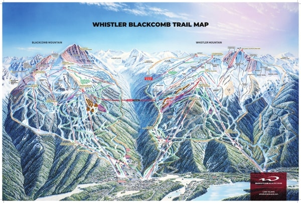 Whistler Blackcomb Ski Resort Piste Map