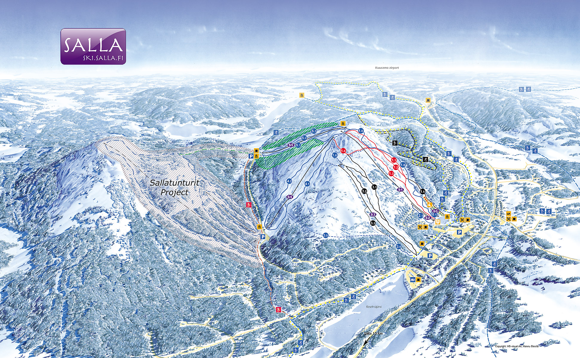 Salla Piste Map Free Downloadable Piste Maps