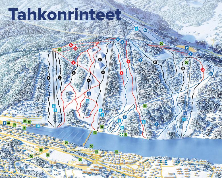 Tahko Piste Map Free Downloadable Piste Maps