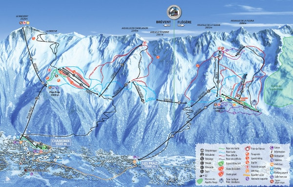 Brevent Flegere Ski Resort Piste Map