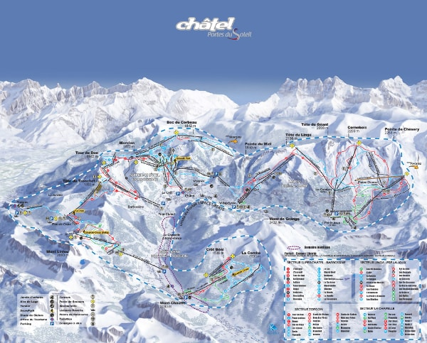 Chatel piste map free downloadable piste maps for Piste de ski interieur
