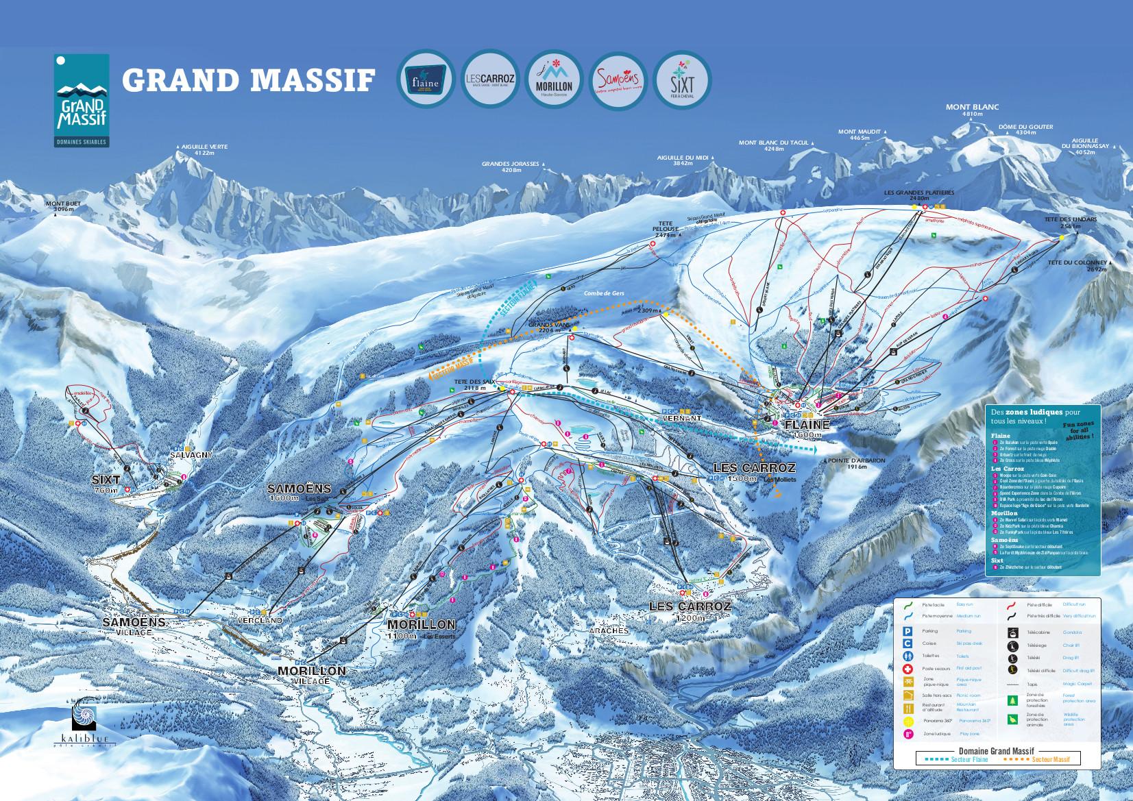 le grand massif piste map  u2013 free downloadable piste maps