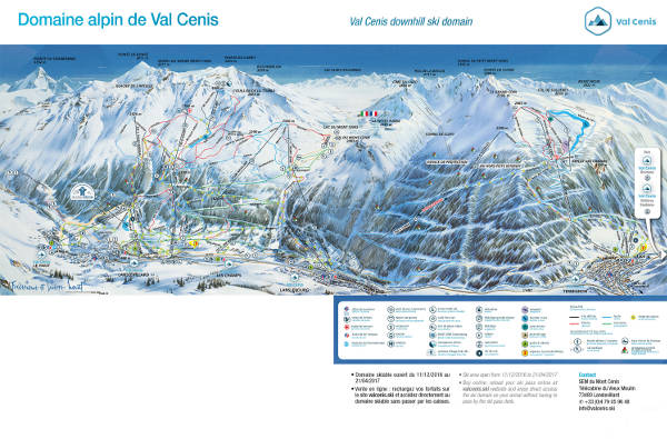Val Cenis Ski Resort Piste Map