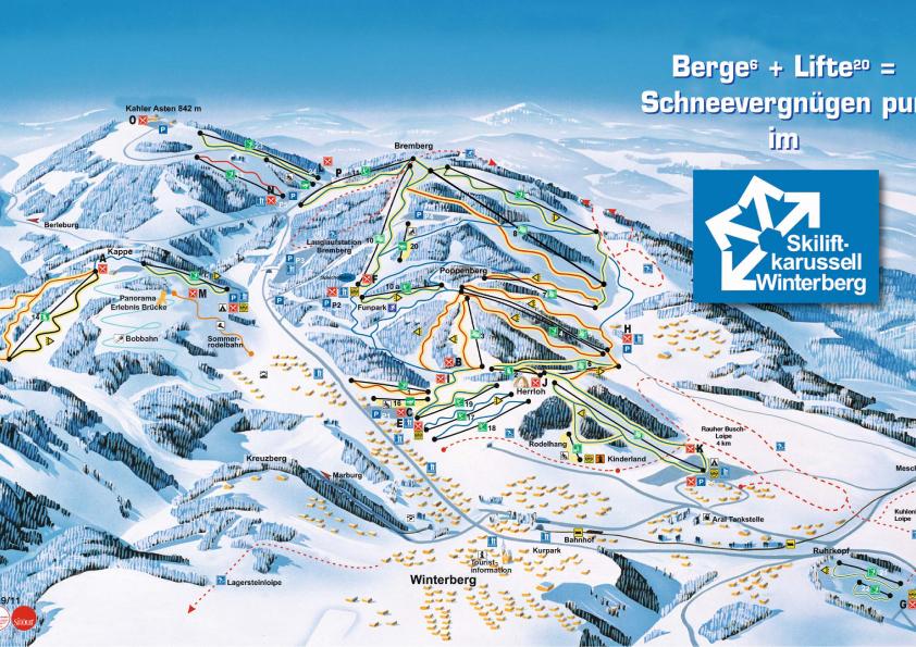 ski resorts germany map
