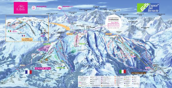 La Thuile Piste Map – Free downloadable piste maps.
