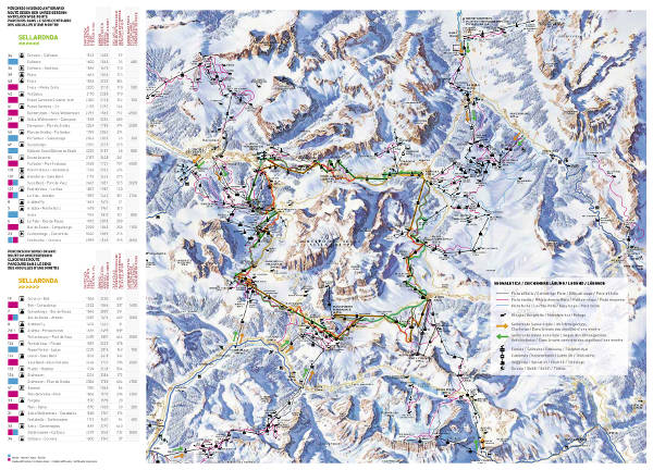 Sella Ronda Piste Map Italy