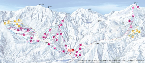 Shiga Kogen Ski Resort Piste Map