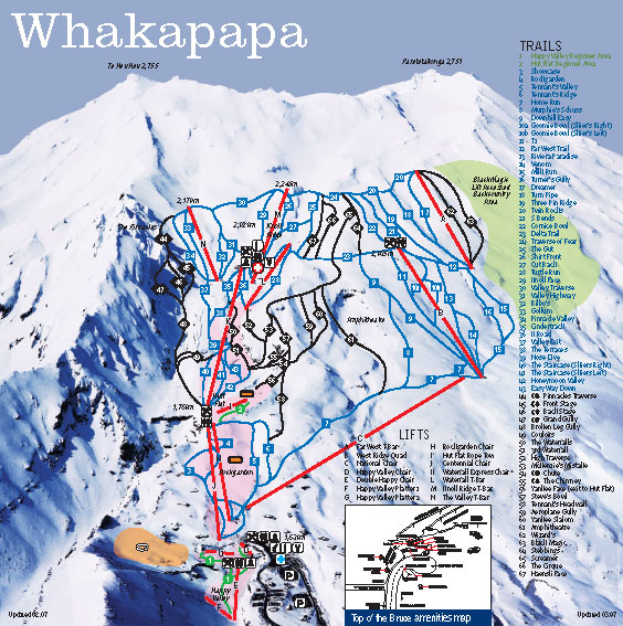 Whakapapa Piste Map Free Downloadable Piste Maps