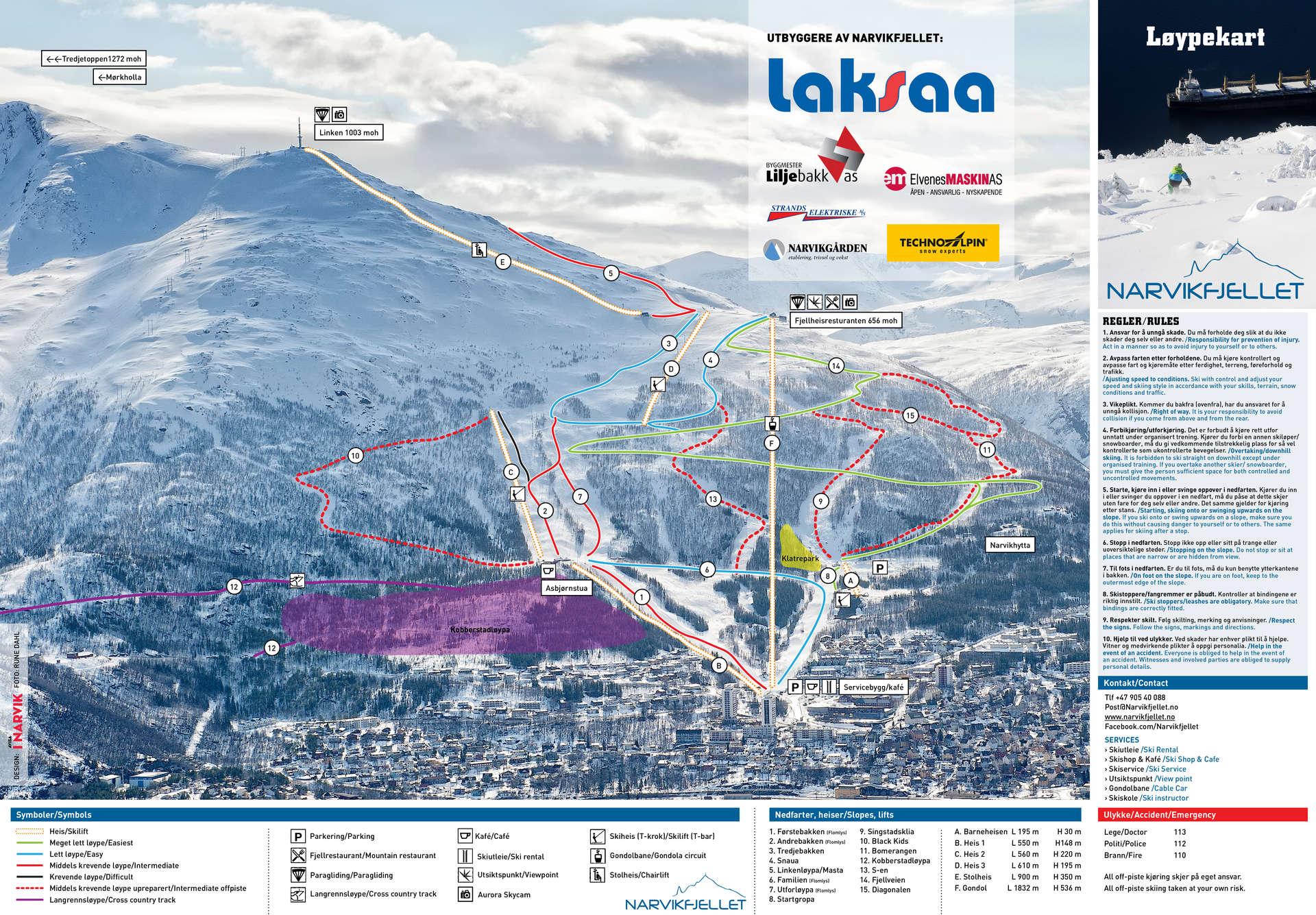 Narvik Piste Map Free Downloadable Piste Maps
