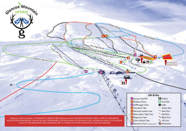 Glencoe Scotland Piste Map Free Downloadable Piste Maps