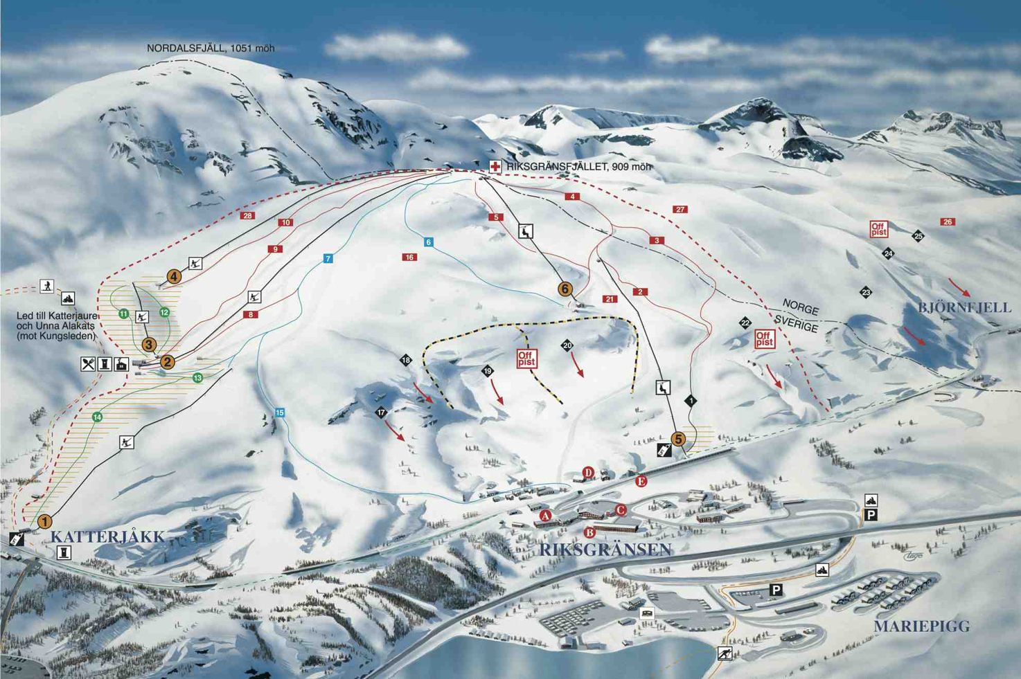 Riksgransen Piste Map Free Downloadable Piste Maps