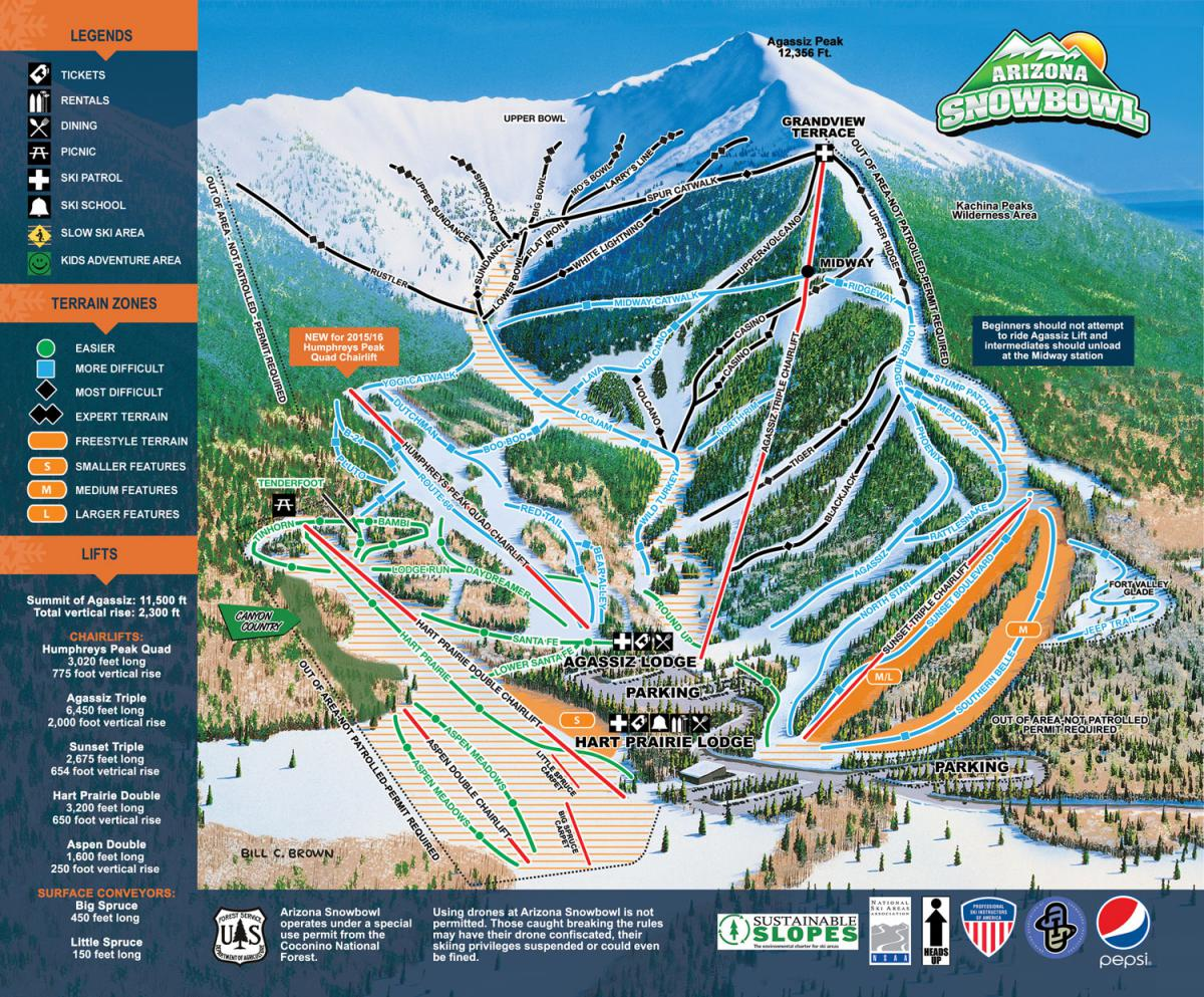 ArizonaSnowBowl-PisteMap-2016 Snowbowl Map on flagstaff ski bowl map, lost trail map, whitefish mountain resort map, flagstaff az map, bridger bowl map, the arizona trail map,