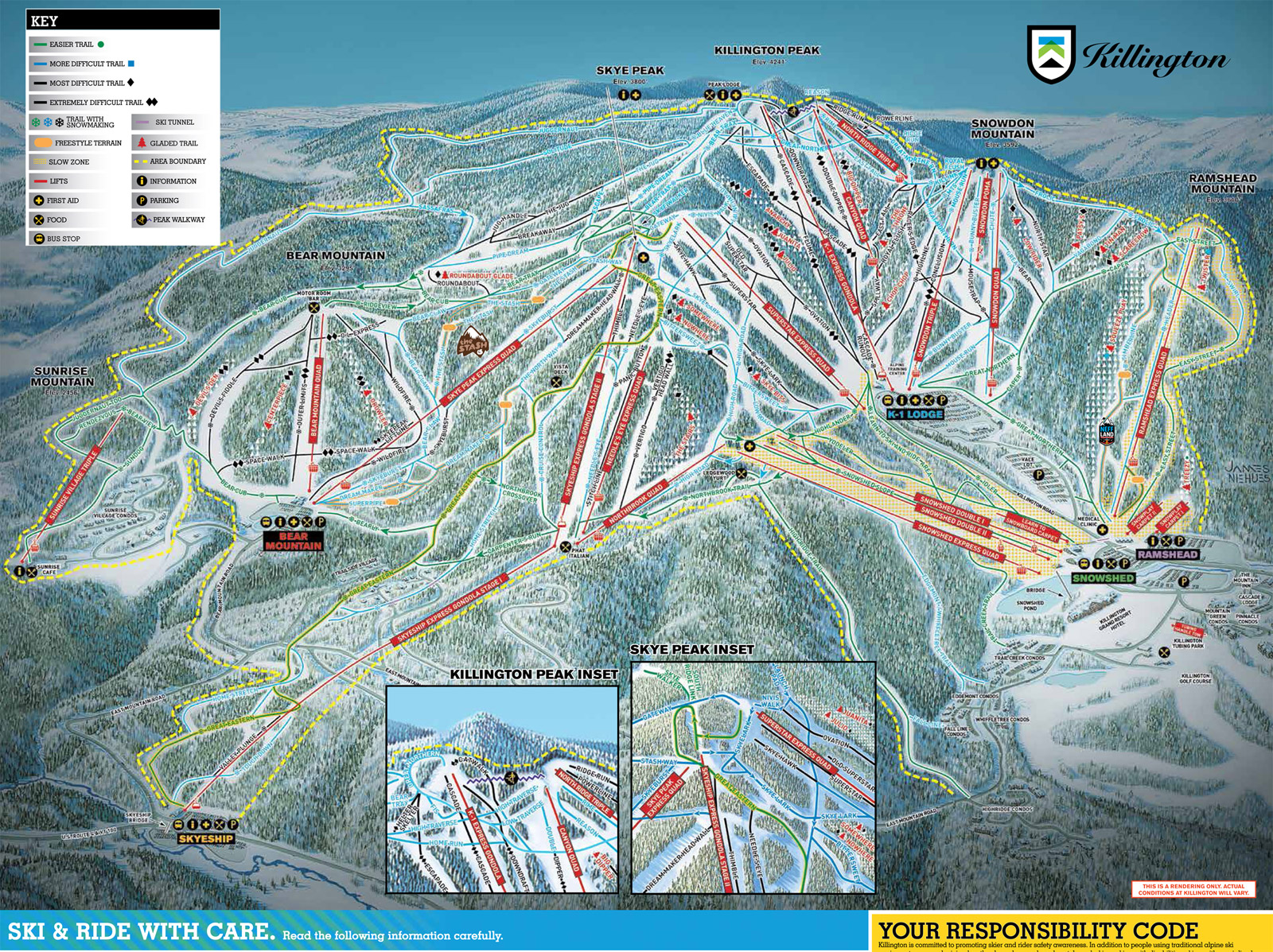 Pics Photos  Killington Vermont Ski Resort Trail Map