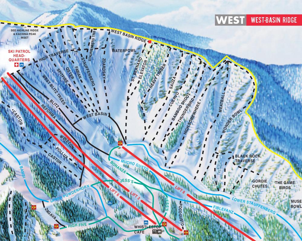Taos Ski Valley Piste Maps - Us map of ski resorts