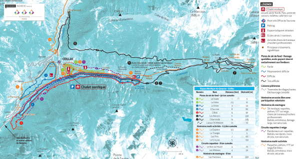 Ceillac Cross Country Ski Trail Map