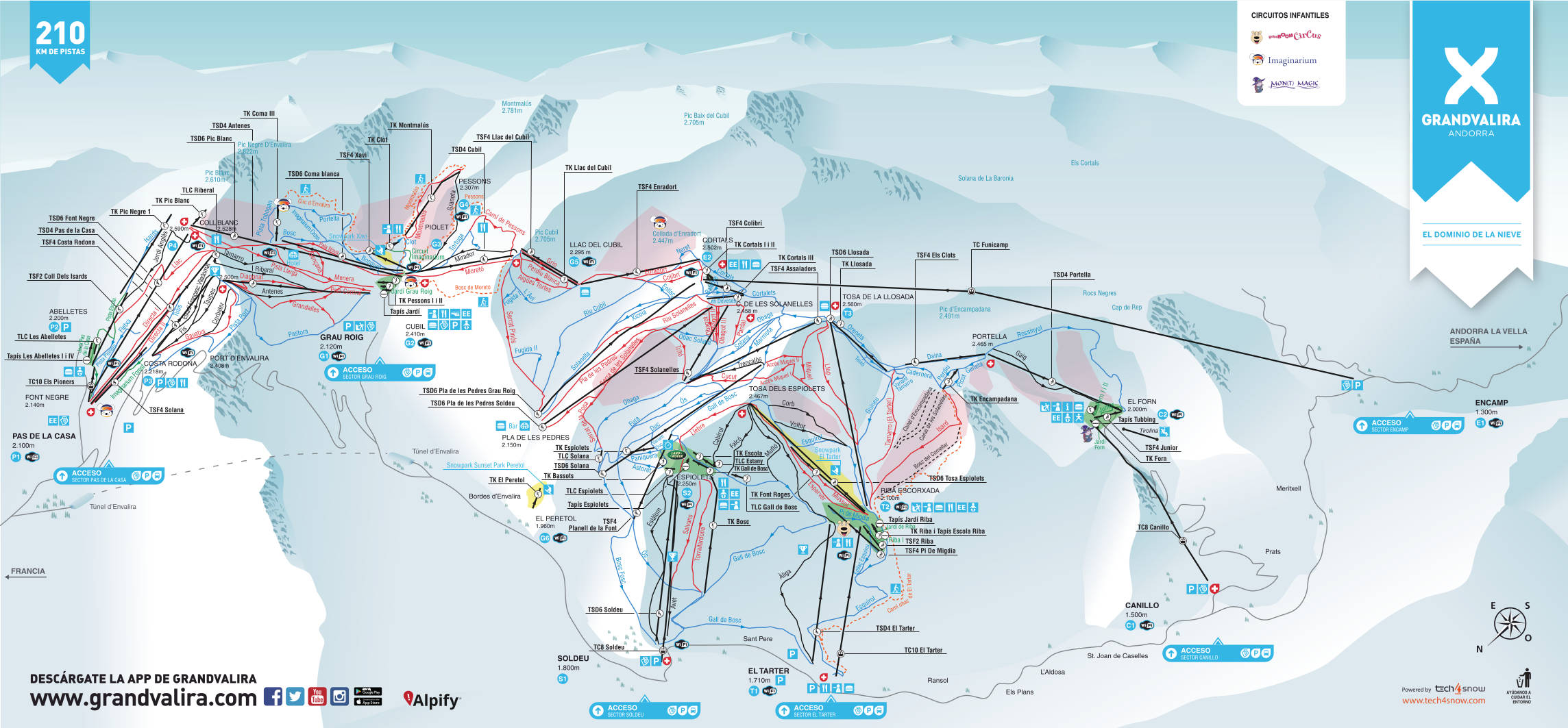 Encamp Piste Map Free downloadable piste maps