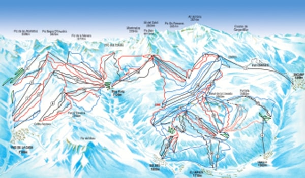 Soldeu Ski Resort Piste Map