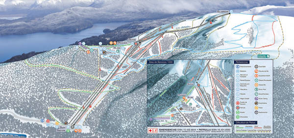 Cerro Bayo Ski Resort Piste Map