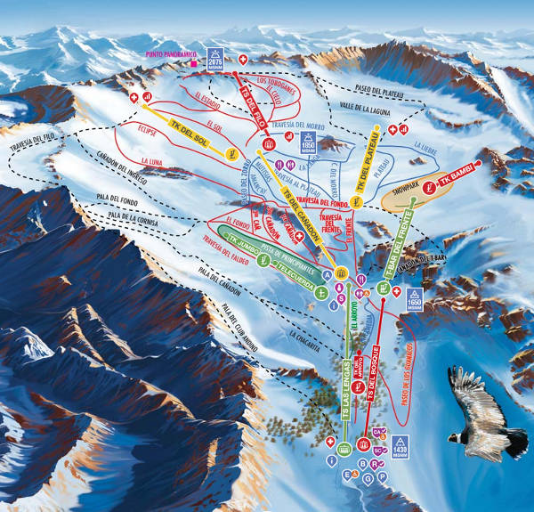 La Hoya Ski Resort Piste Map