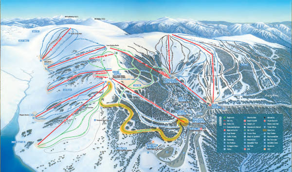 Falls Creek Ski Resort Piste Map