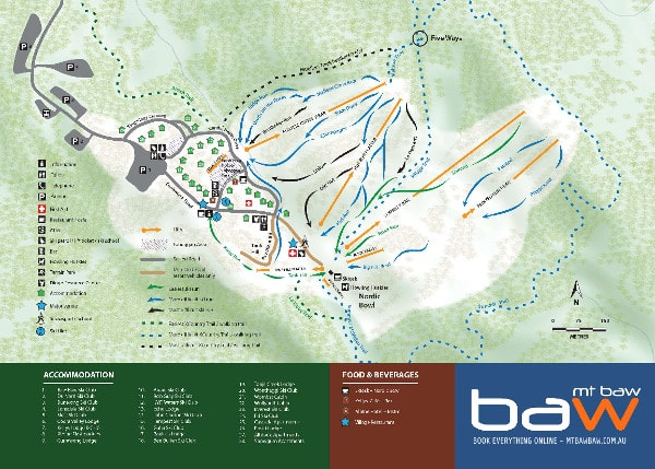 Mount Baw Baw Piste Map