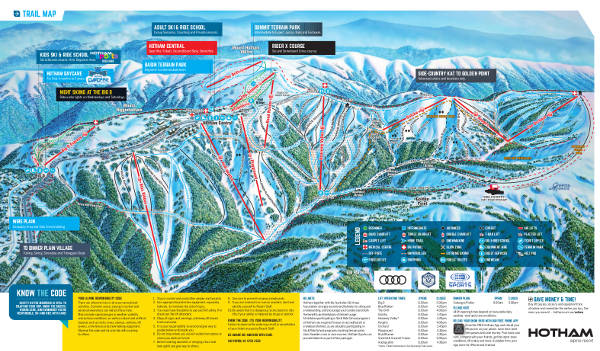 Mount Hotham Ski Resort Piste Map