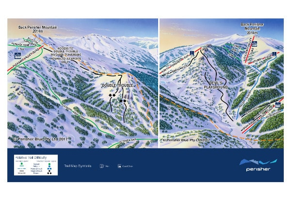 Perisher Devil's Play Ground Piste Map
