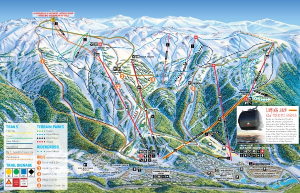 Thredbo Ski Resort Piste Map
