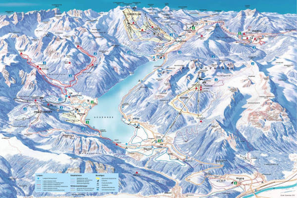 Achensee Ski Resort Piste Map