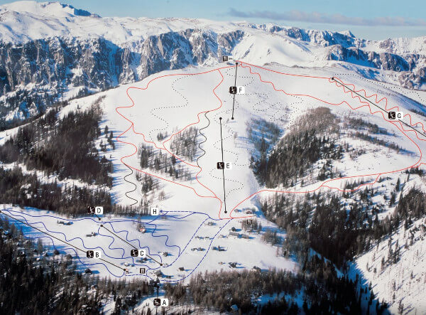 Aflenzer Buergeralm Ski Resort Piste Map