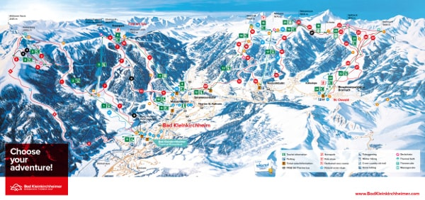 Bad Kleinkirchheim Ski Resort Piste Map