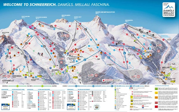 Damuls Ski Resort Piste Map