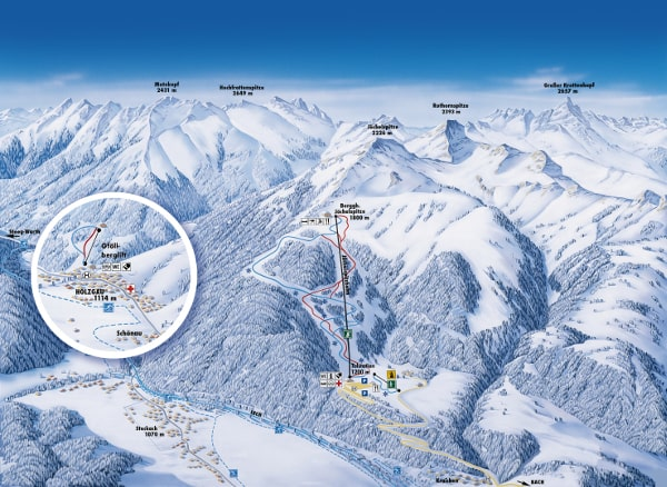 Joechelspitze Ski Resort Piste Map