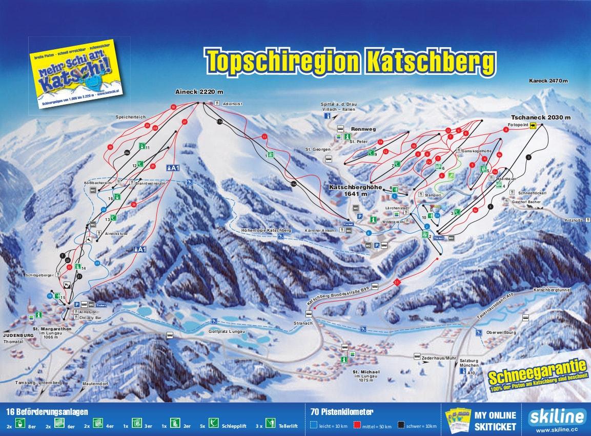 Katschberg Piste Maps- Free Downloads