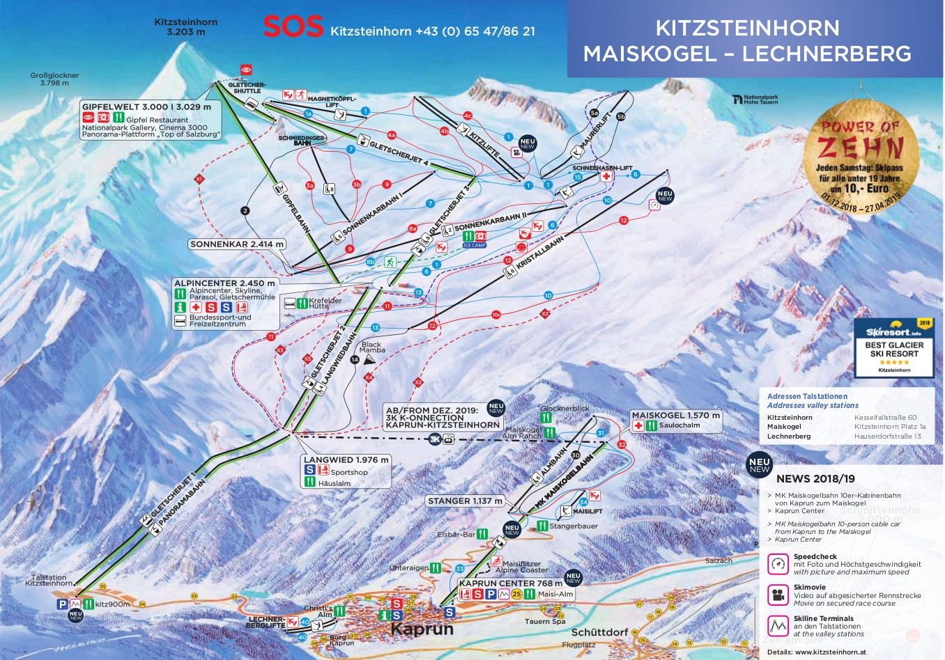 Kaprun Piste Map Kaprun, Austria Piste Map – Free downloadable piste maps.