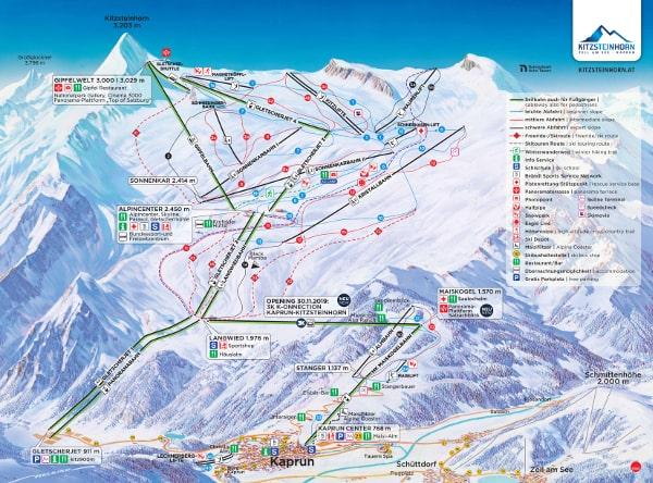 Kitzsteinhorn Austria Piste Map Free downloadable piste maps