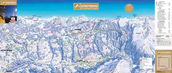 Kristberg Ski Resort Piste Map