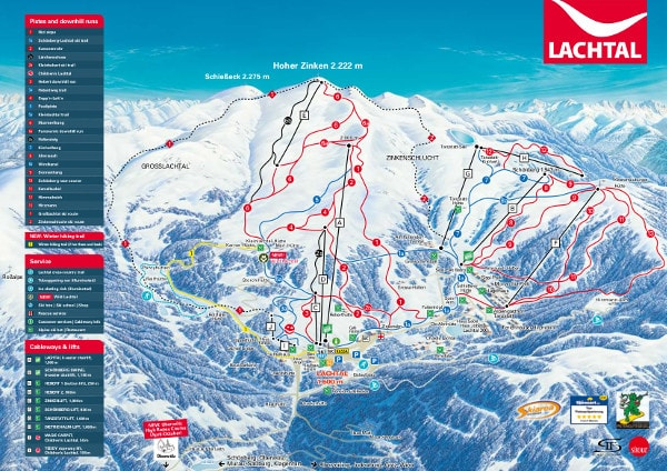 Lachtal Ski Resort Piste Map