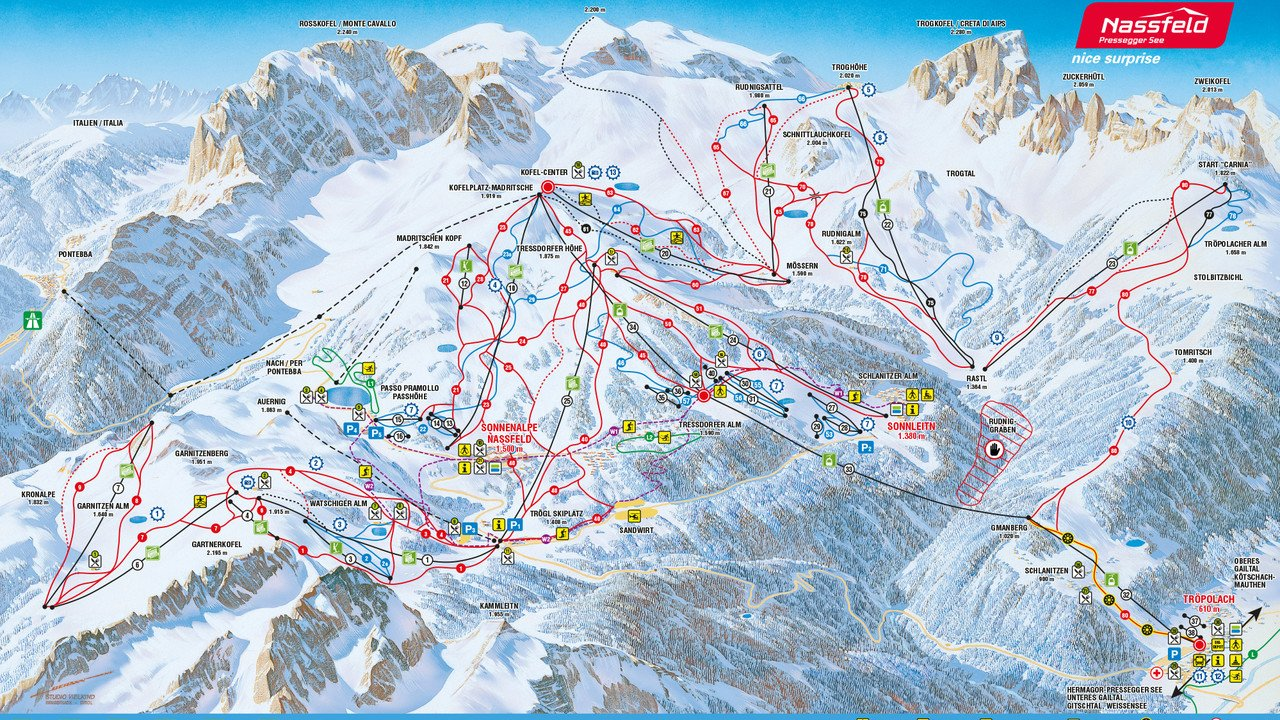 Nassfeld Piste Map